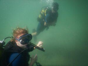 Alman bayan dalgıç Enez'e hayran kaldı